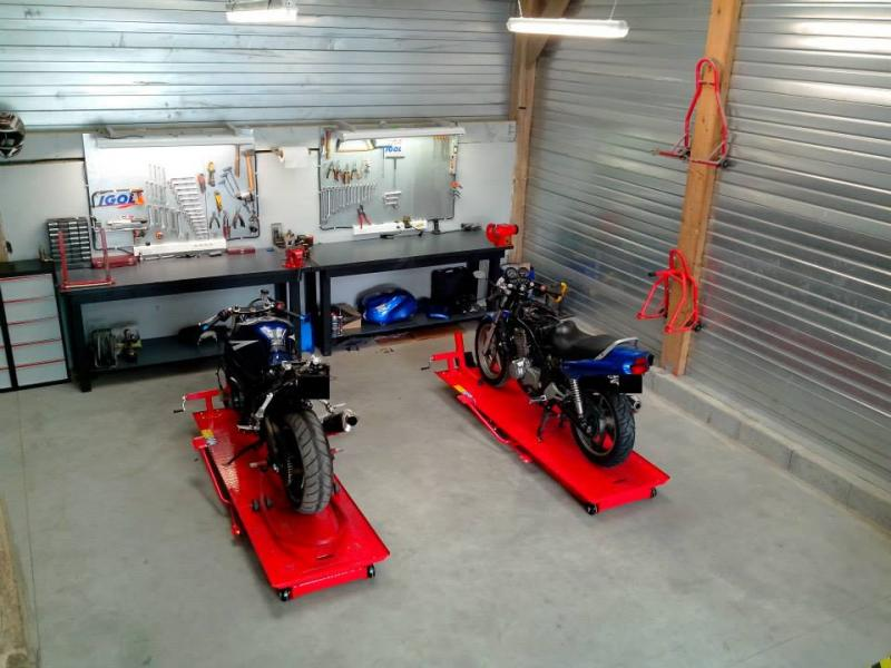 Atelier m canique bs2 moto annnonce 115230 sur www parc for Amenagement garage moto