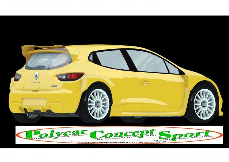 polycar concept sport nouveaute kit carrosserie clio 4 t3f annnonce 120912 sur www parc. Black Bedroom Furniture Sets. Home Design Ideas